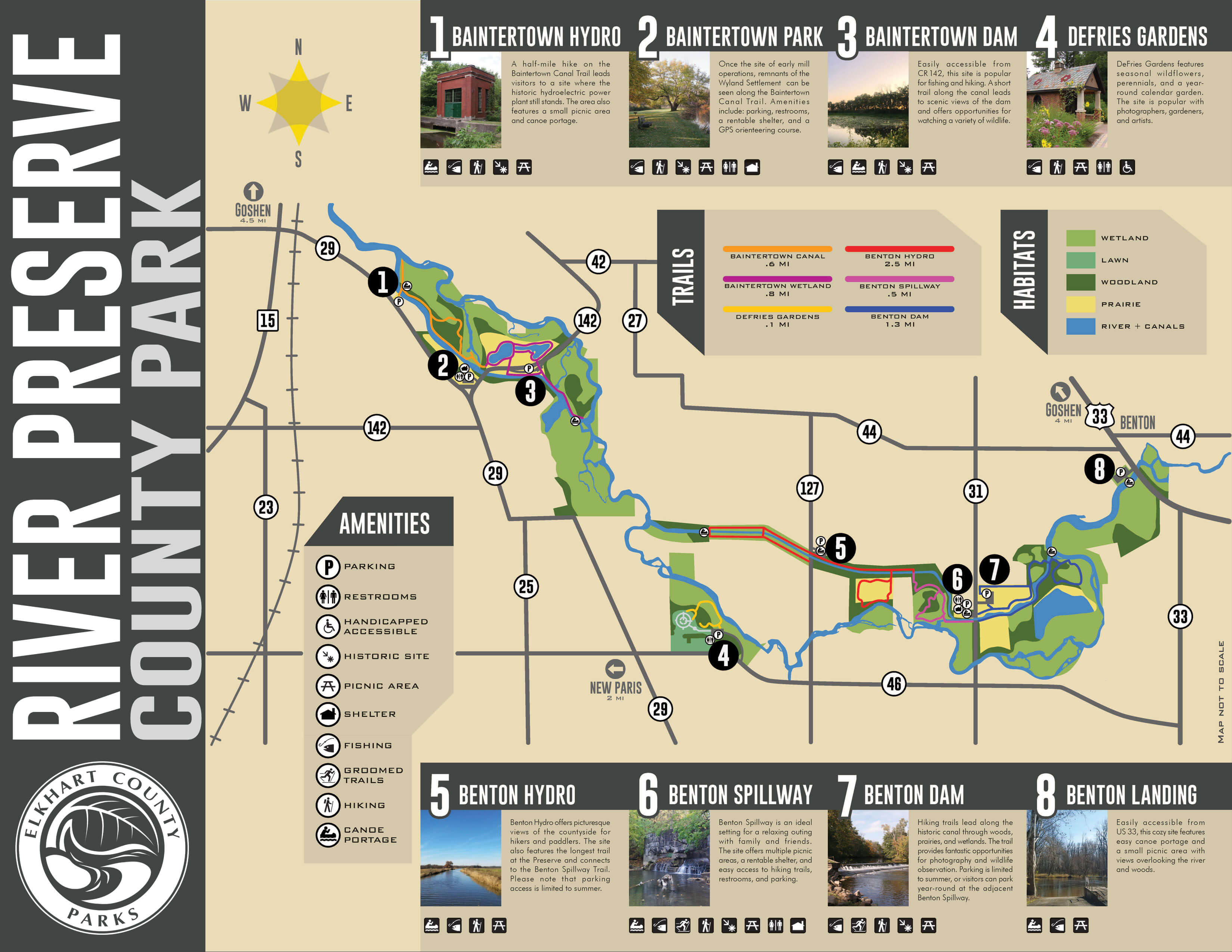 Outdoor Adventure Elkhart County Parkselkhart Parks Hydroelectric Power Plant Schematic Diagram Trail Maps